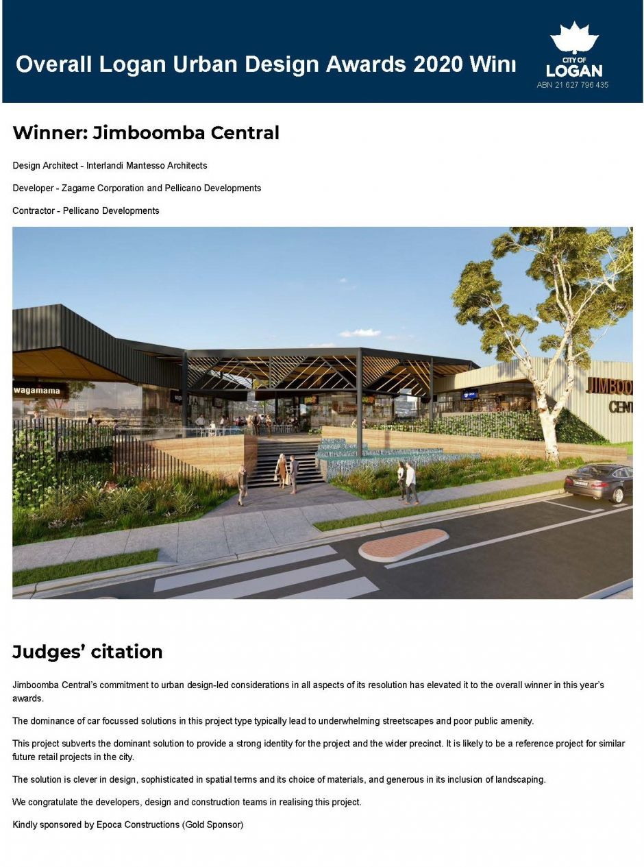 Overall logan urban design awards 2020 winner Y logan city council-2