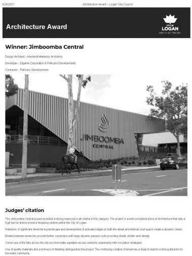 Architecture award Y logan city council page 1-2